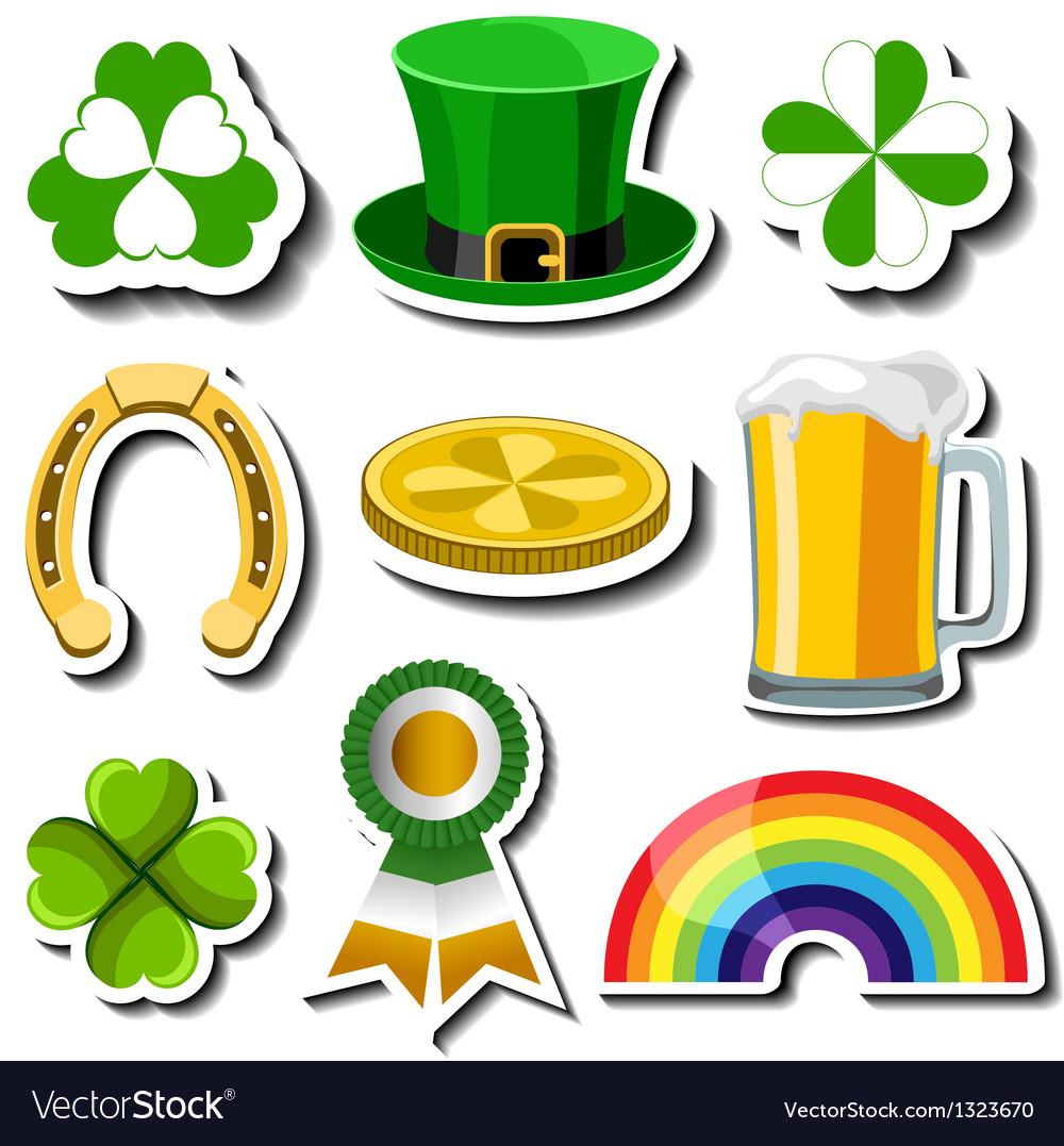 St Patricks day sticker set