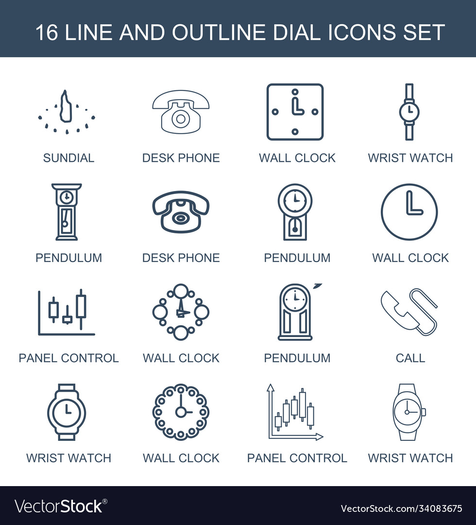 16 dial icons