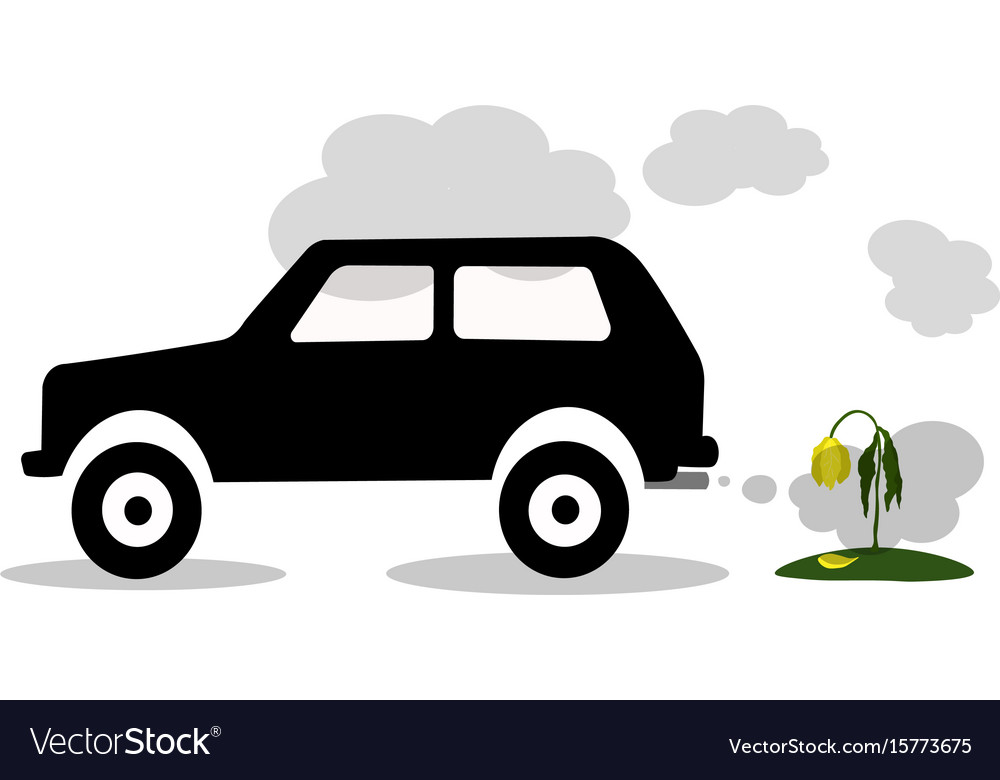 Car exhaust co2 smoke vector image