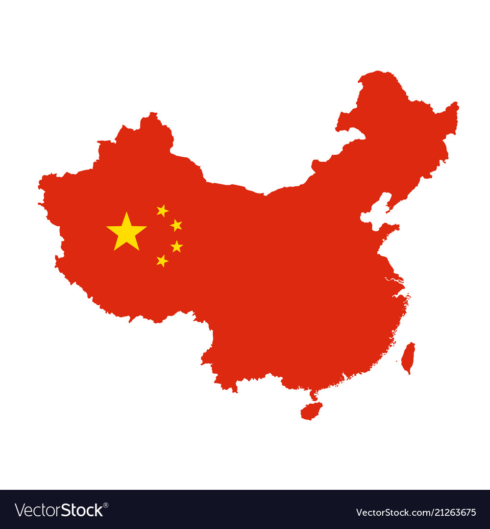 China map outline   silhouette of china state Vector Image