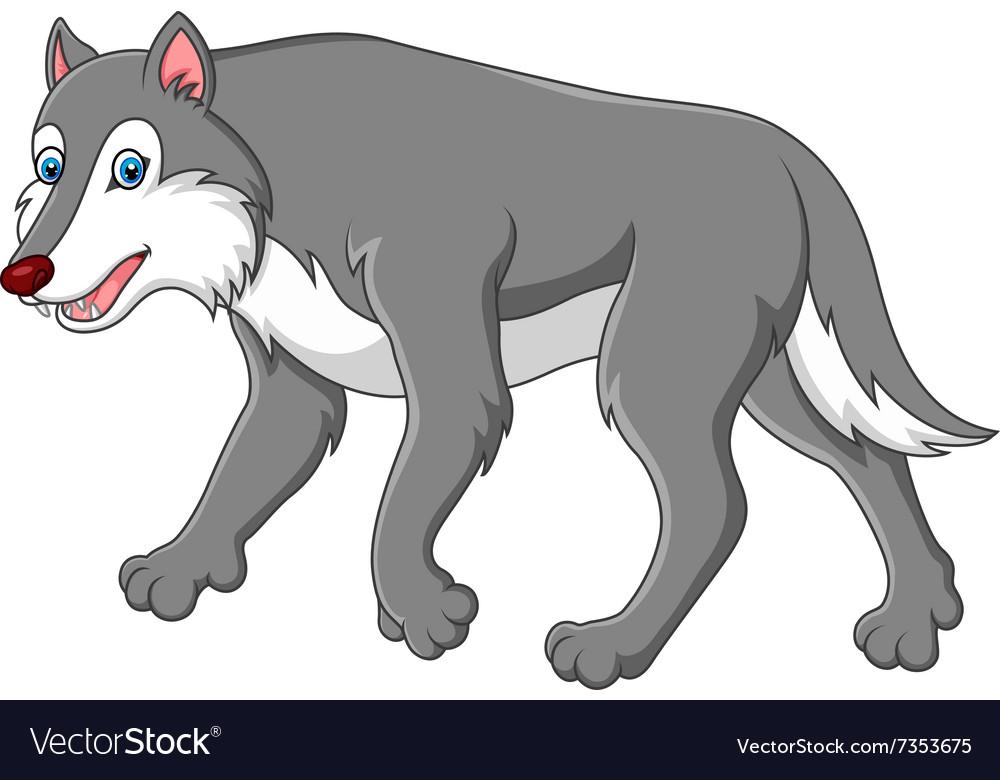Cute cartoon wolf Royalty Free Vector Image - VectorStock - photo#34