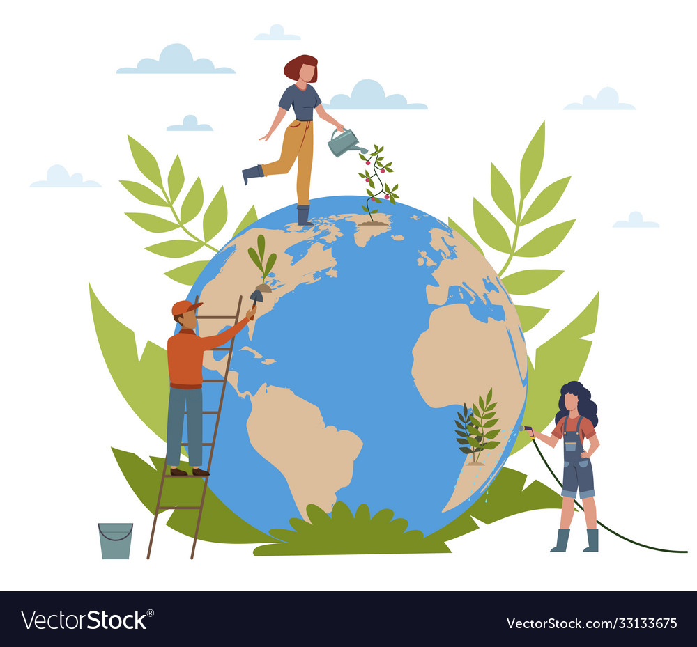 Earth day people care about ecology of