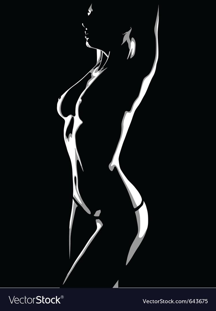 Girl dances a striptease vector image