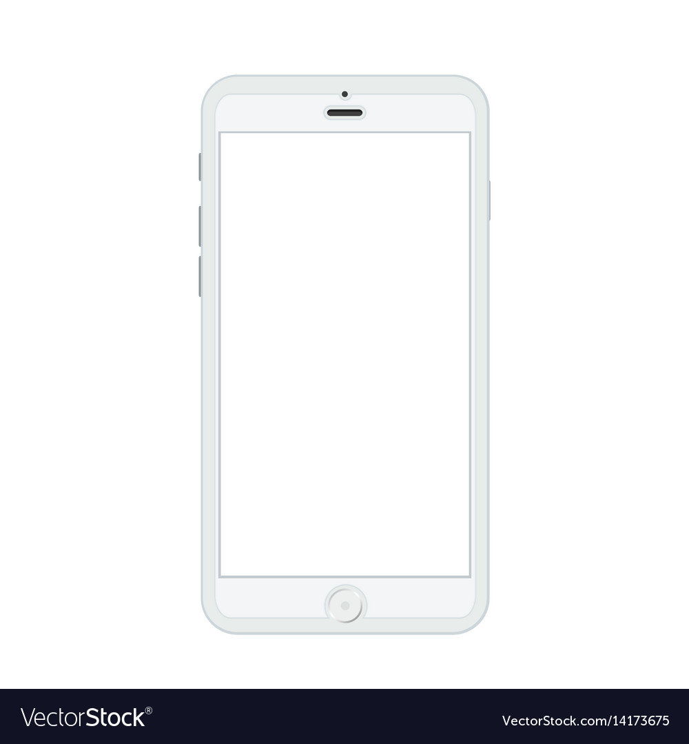 Modern realistic smartphone isolated on