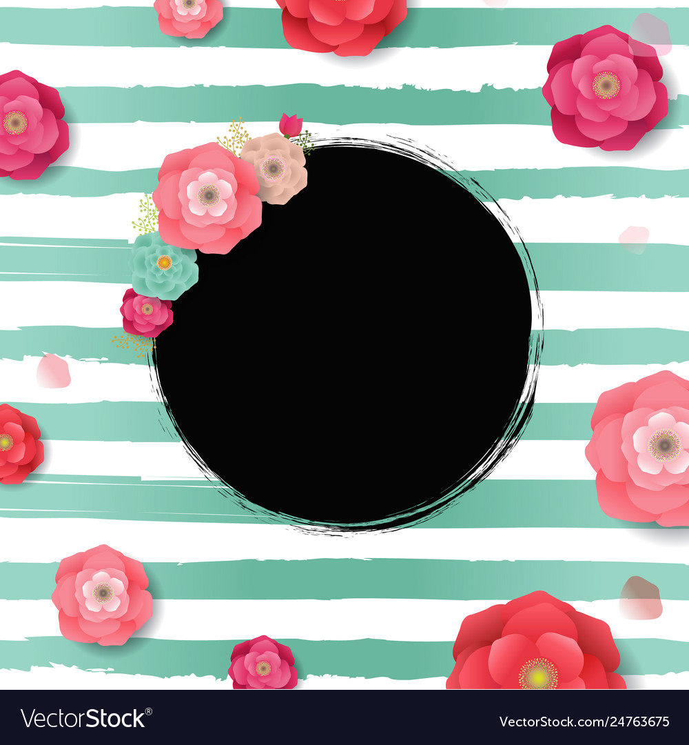 Poster with flowers background