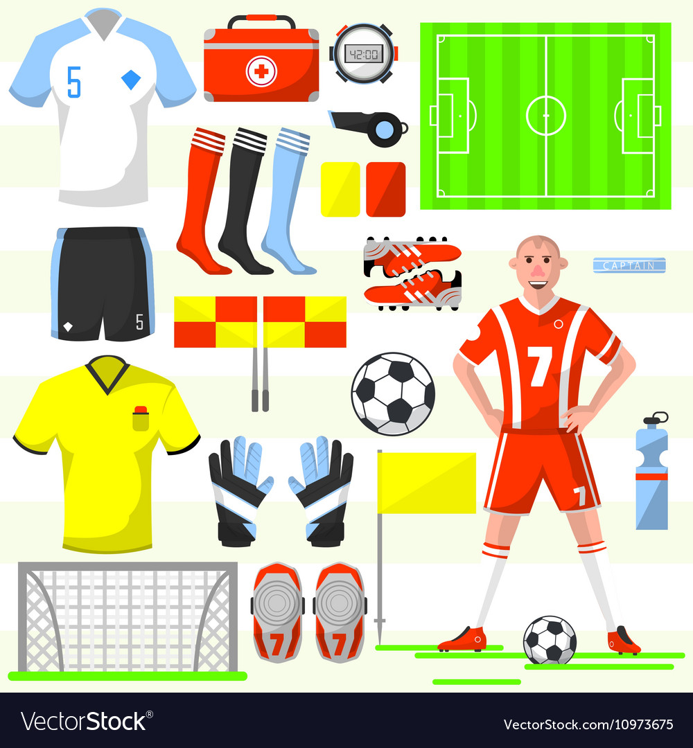 Set of football soccer icons