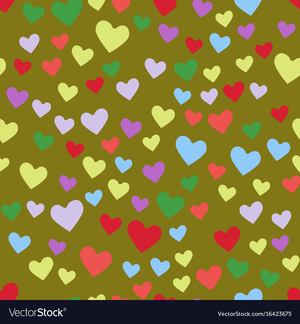 Simple heart sharp seamless pattern color