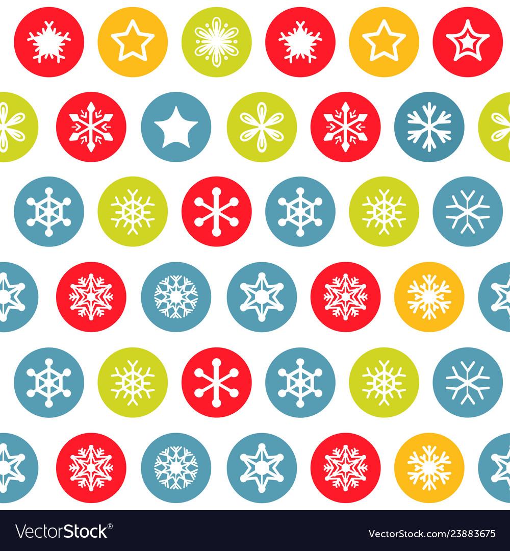 Snow pattern on white background
