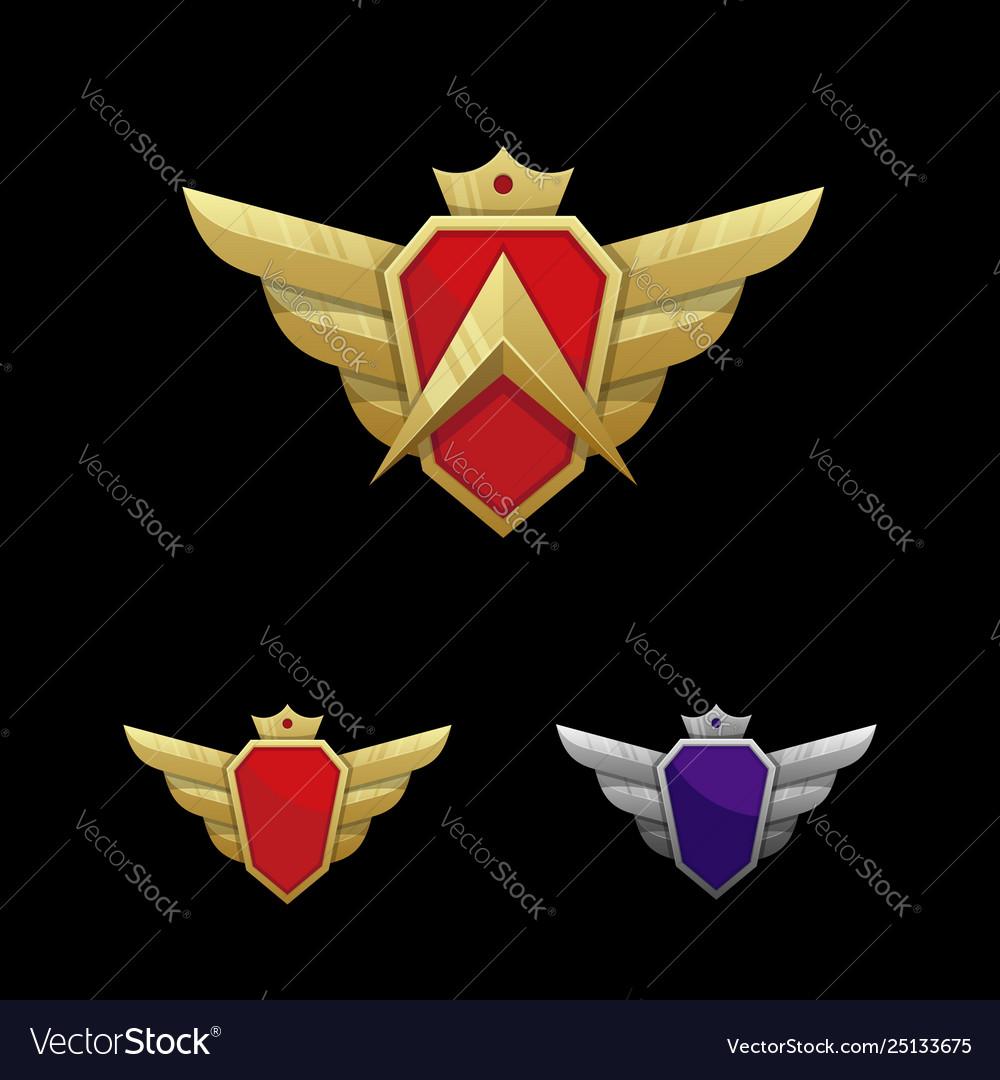 Wing emblem template