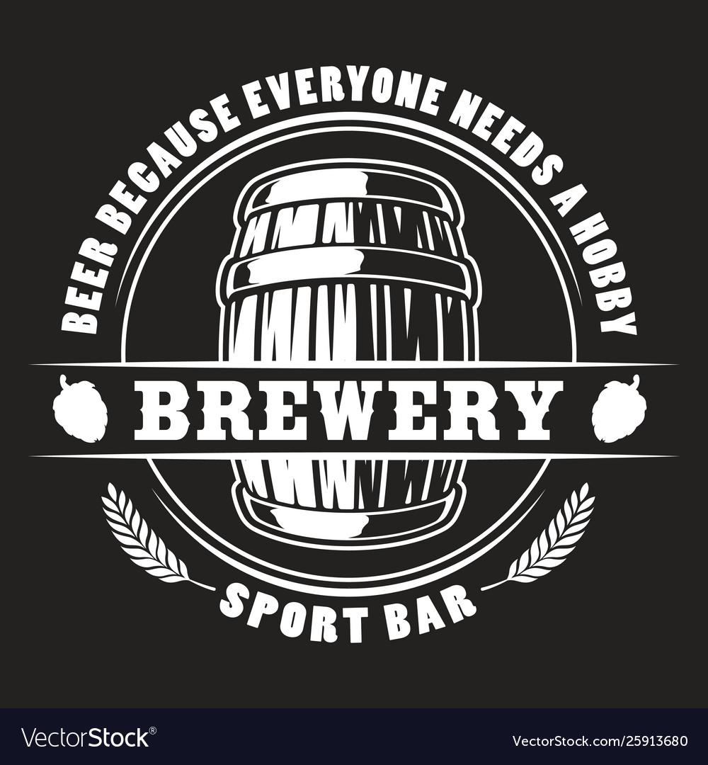 Beer barrel badge