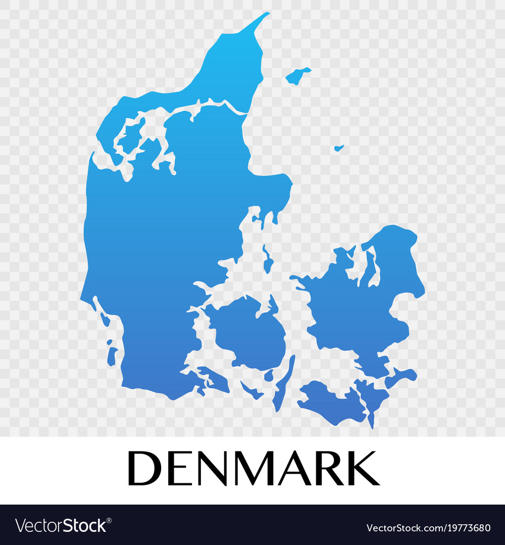 denmark map in europe continent design vector image