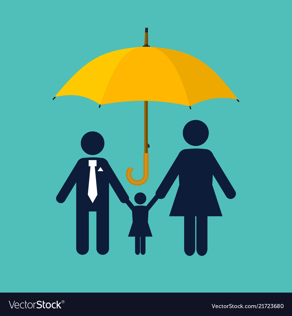 Family protection insurance concept