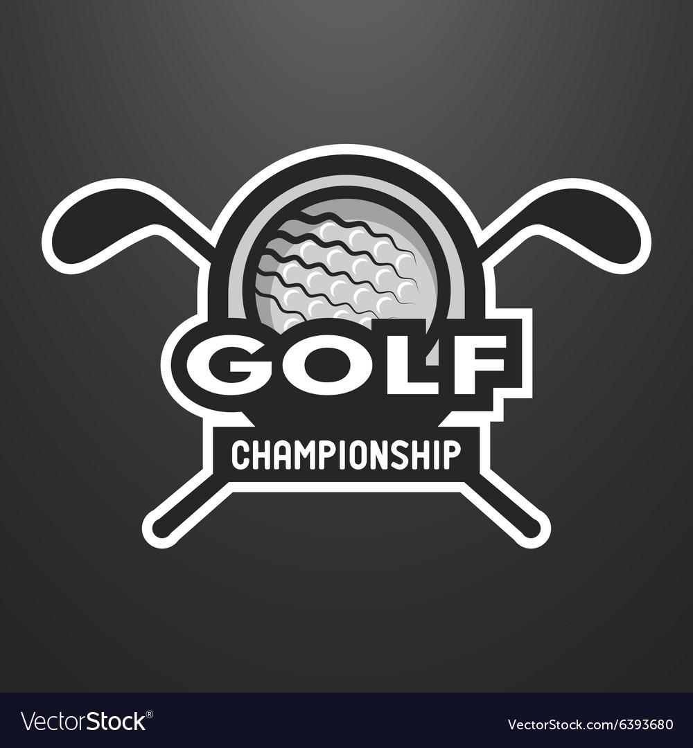 Golf sports logo label emblem