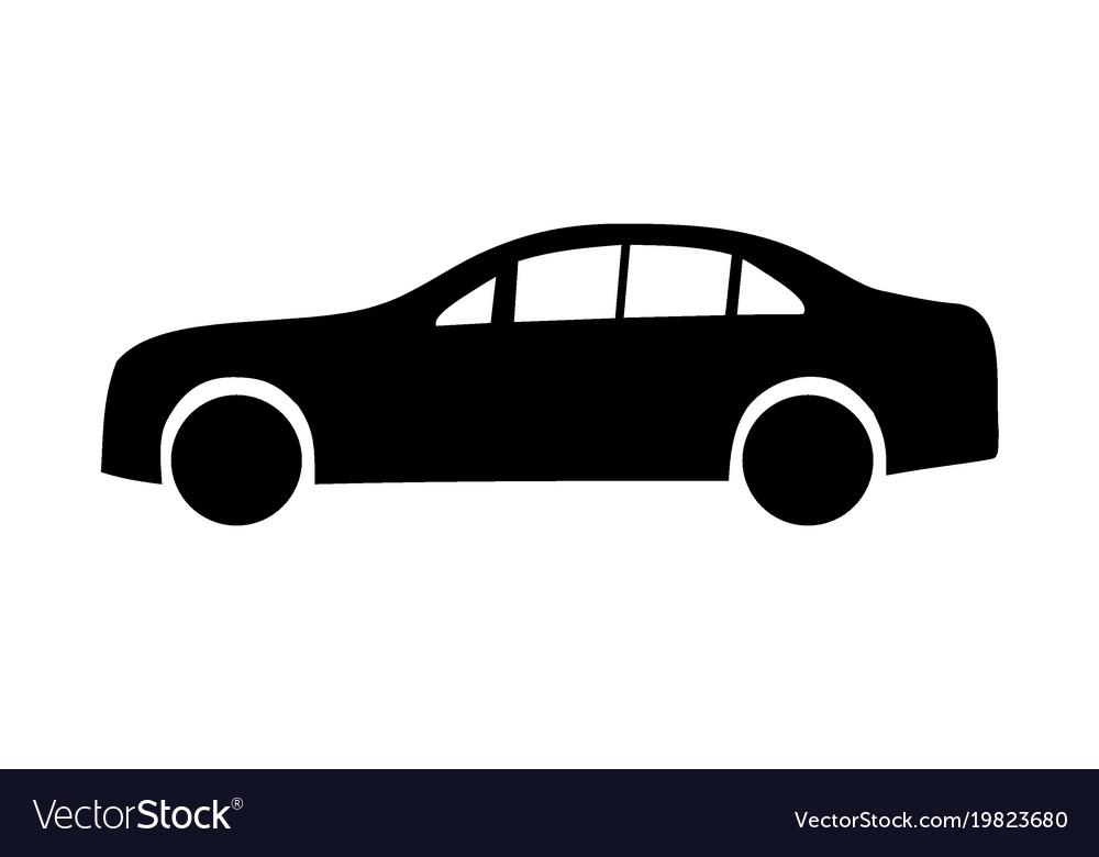 Limousine black silhouettes vector image