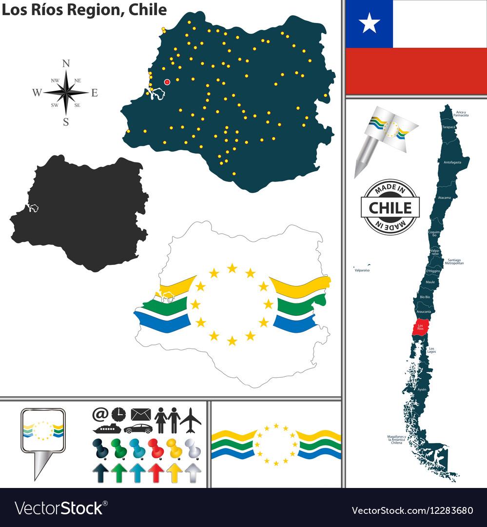 Map of Los Rios vector image