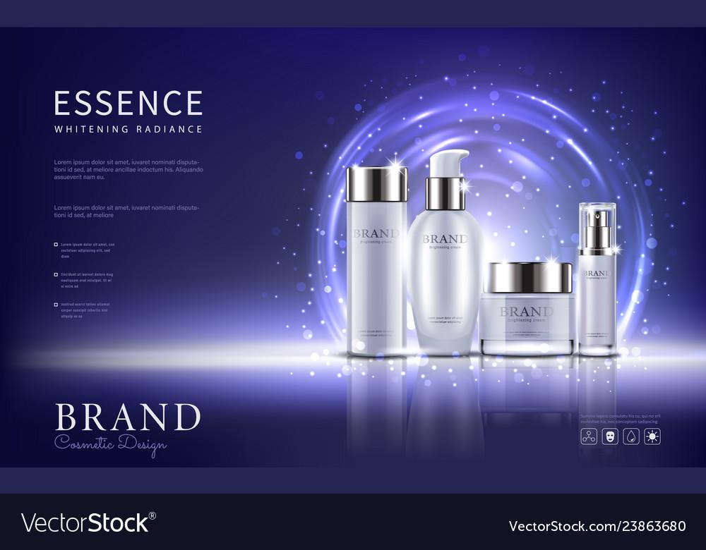 Package design on light blue background
