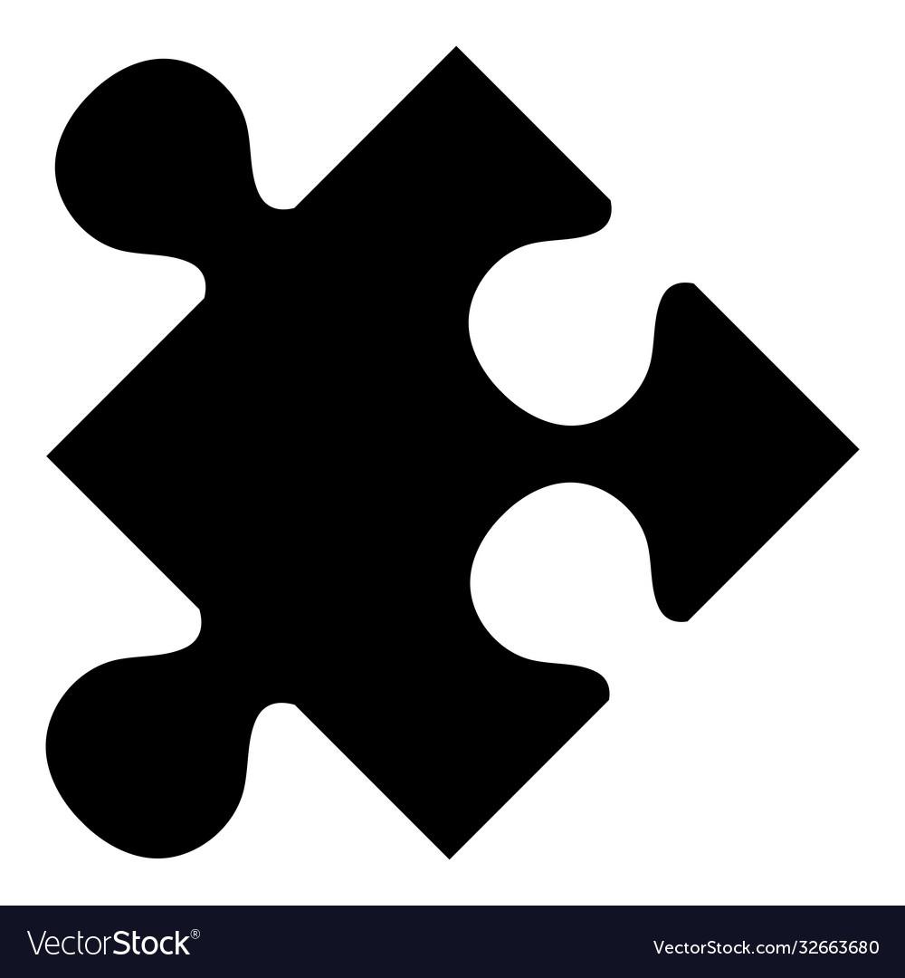 Puzzle piece flat icon