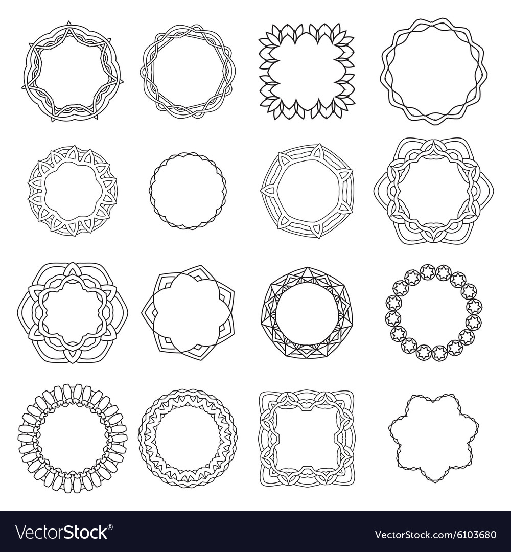 Set ornamental lace pattern Abstract ornament