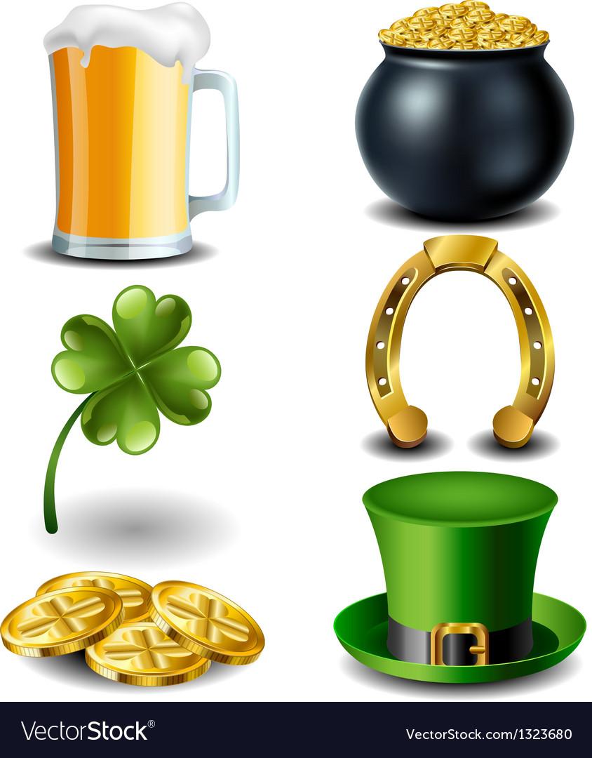 St Patricks day symbol set