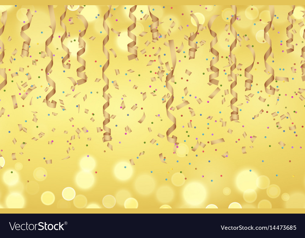 Curly golden paper ribbon