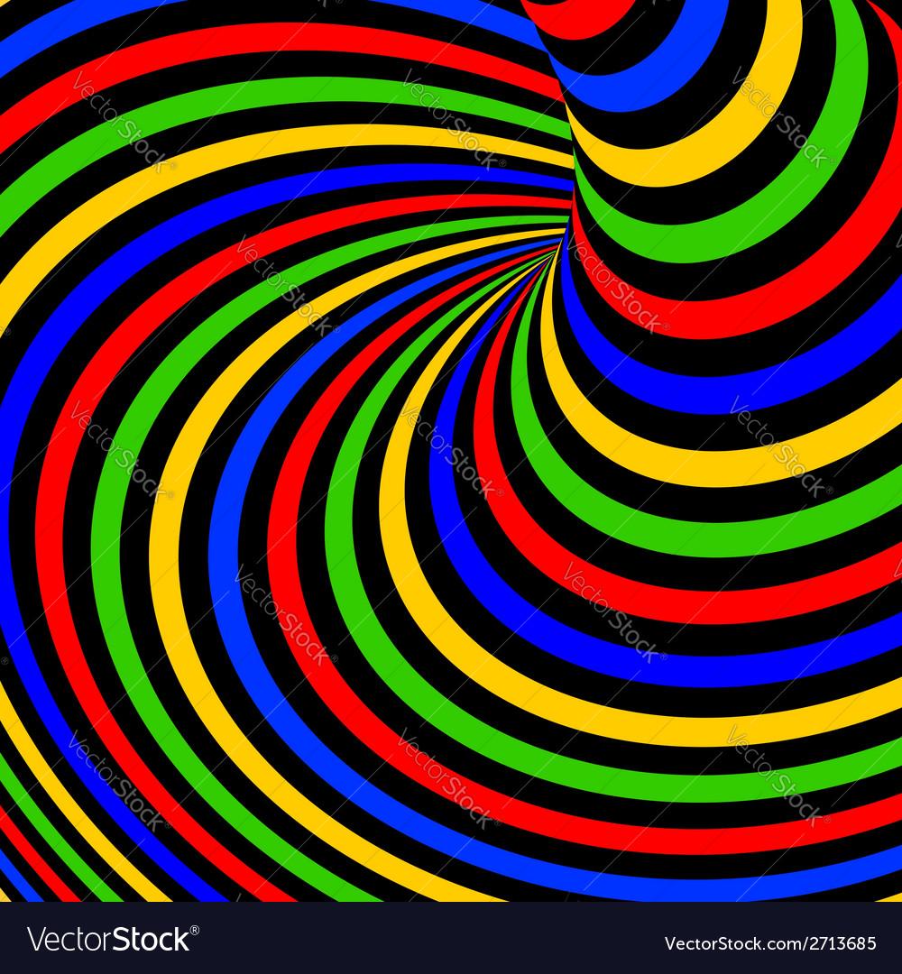 Design colorful vortex movement background