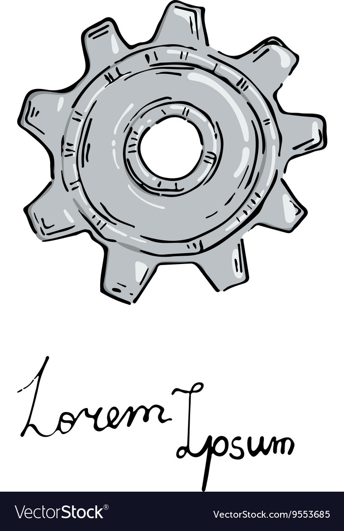 Gear icon Doodle style