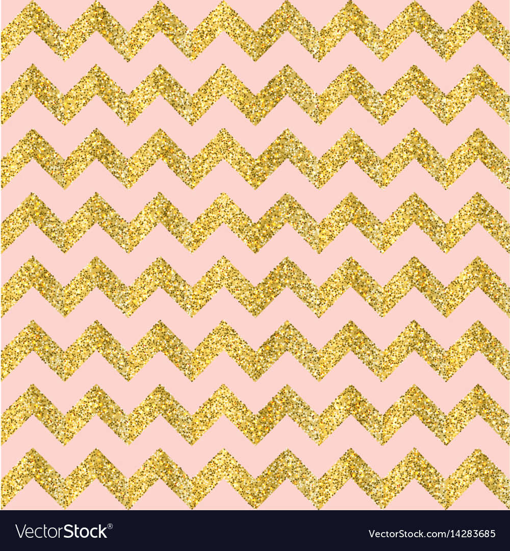 Gold glittering heart seamless pattern