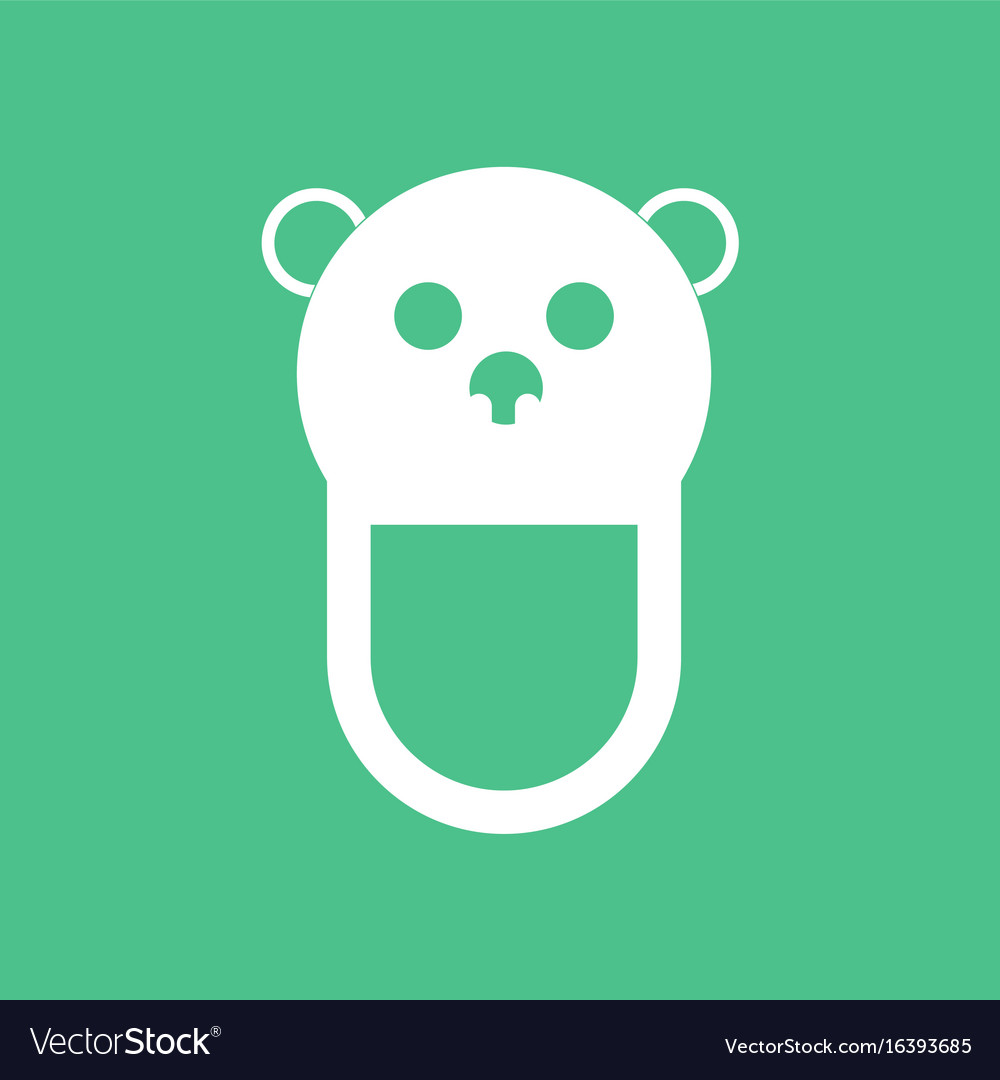 Icon on background teddy bear bib vector image