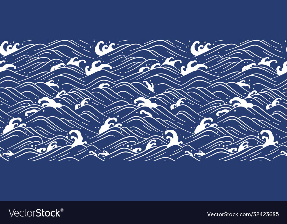 Japan wave ocean seamless wallpaper