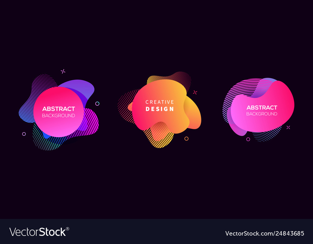 Modern futuristic cover elements set vector