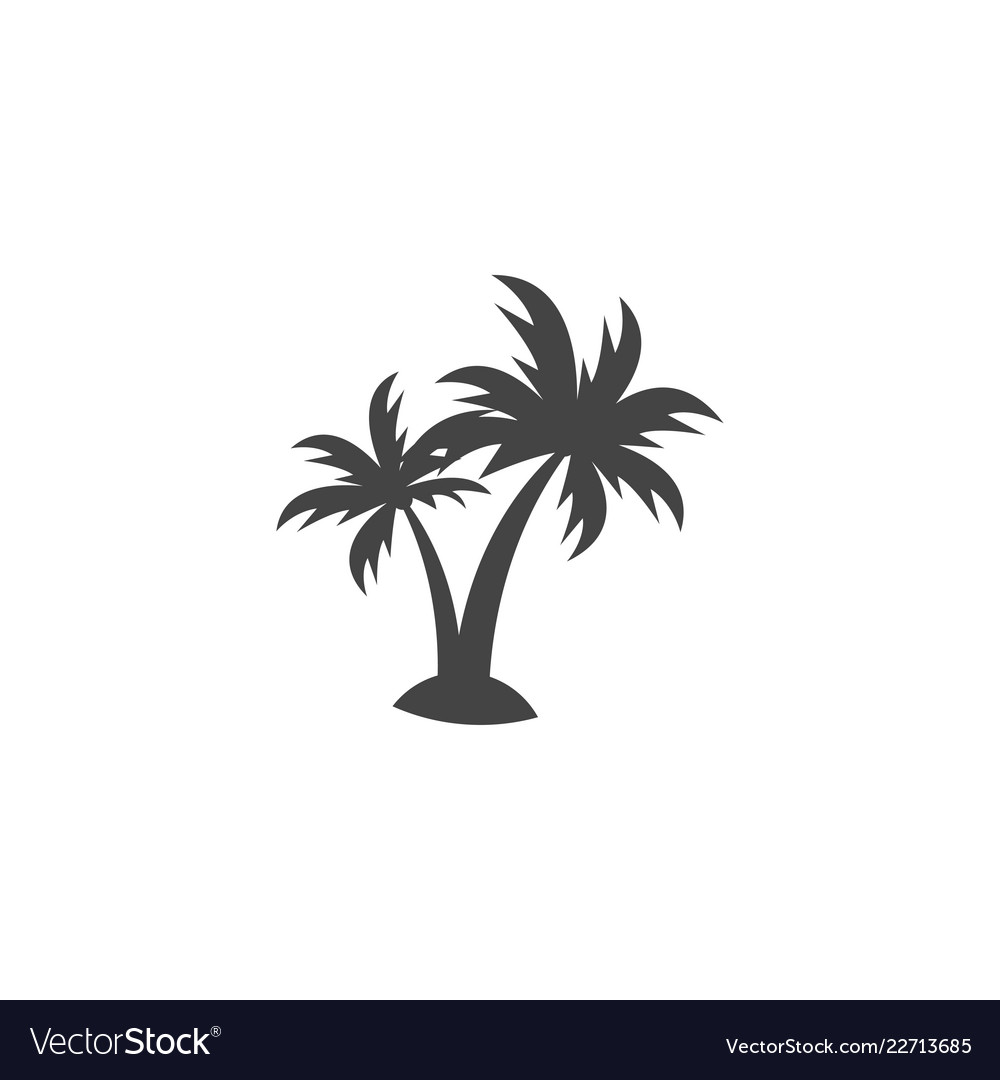 Palm tree silhouette graphic design element