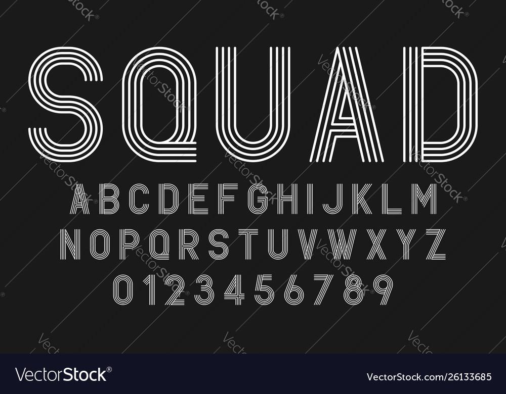 Set alphabets fonts modern abstract design