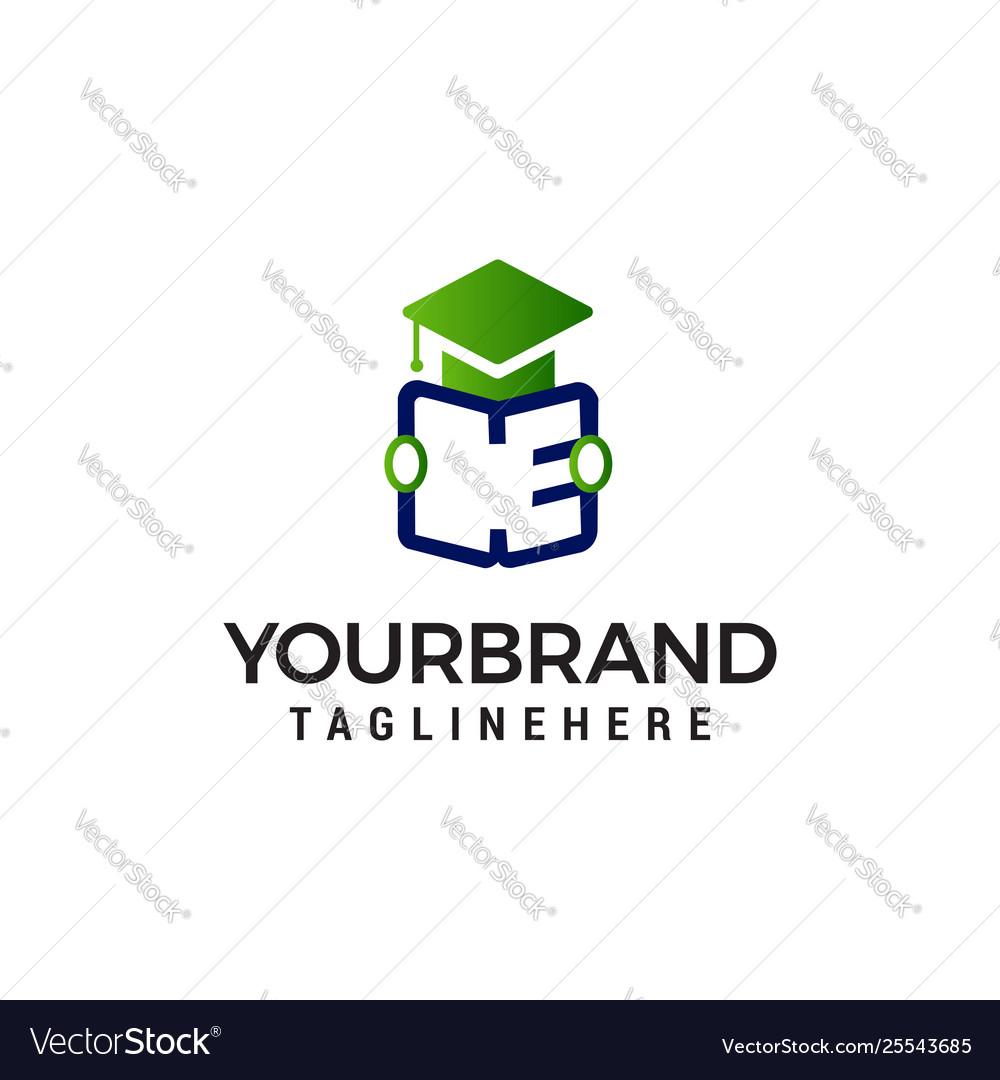 Student open book logo design concept template