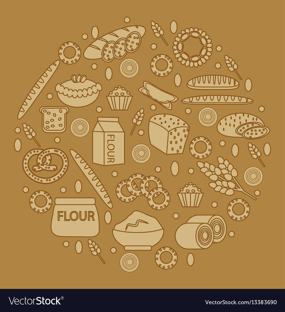 Bakery products round-shape