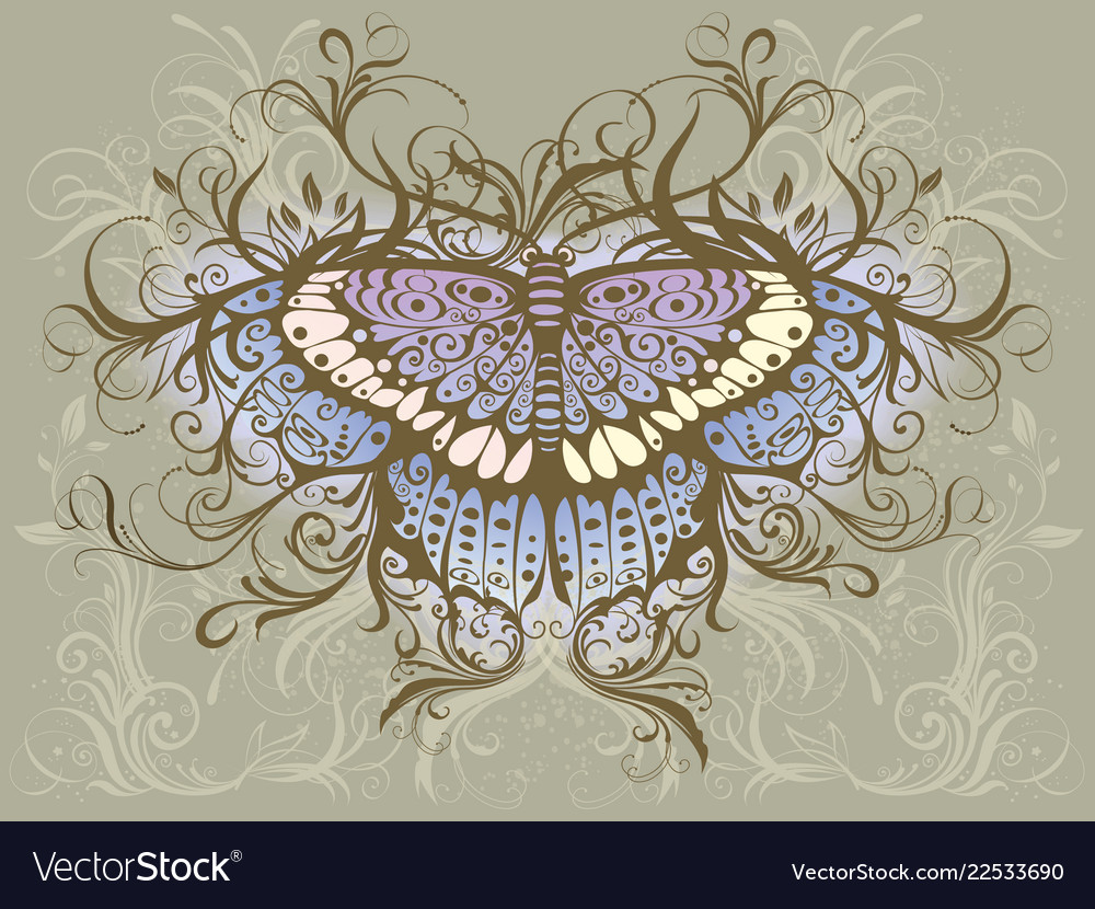Butterfly hand drawing