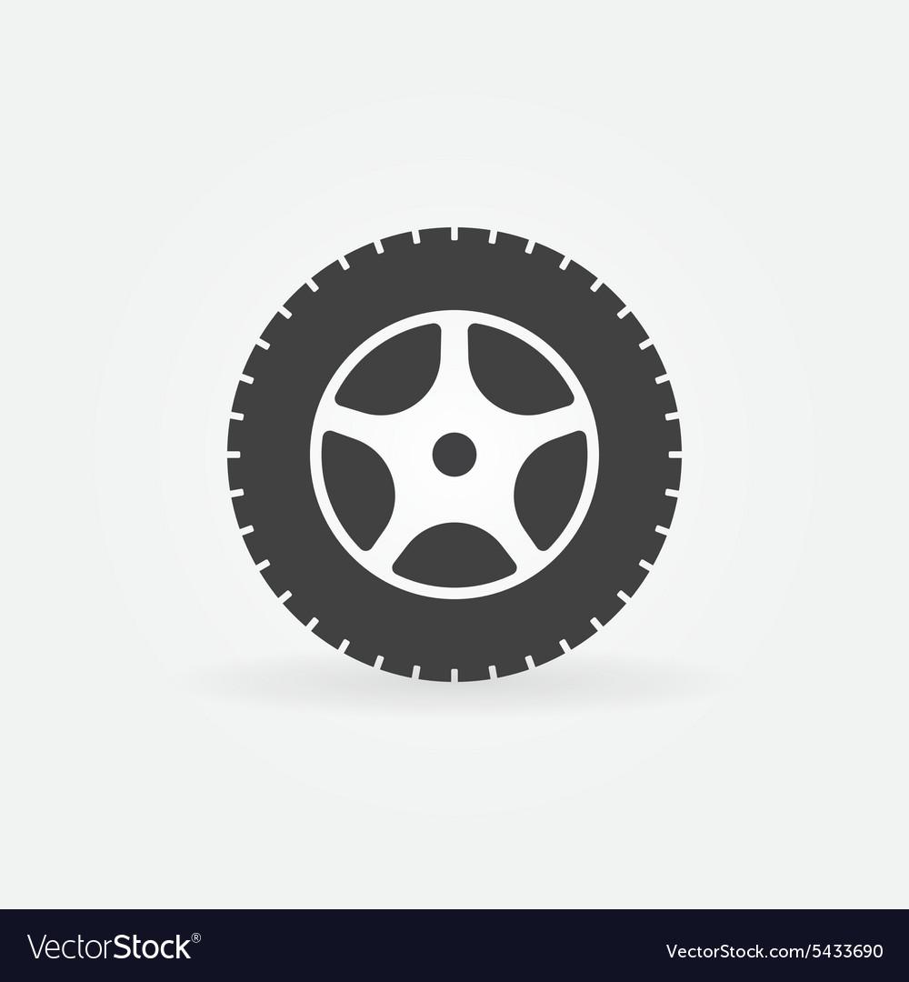 Car Wheel Icon Or Logo Royalty Free Vector Image