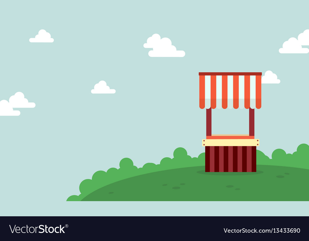 Landscape of street stall background vector image