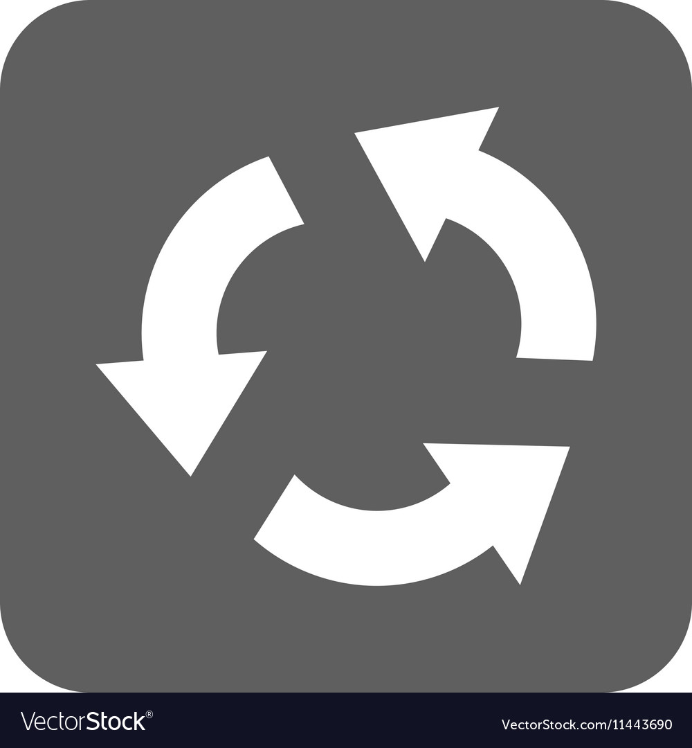 Recycle Flat Squared Icon