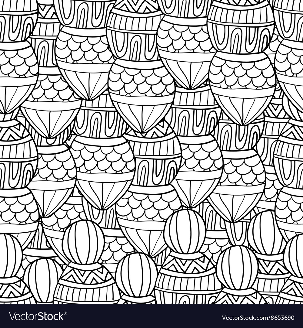 Seamless wave hand drawn pattern waves background