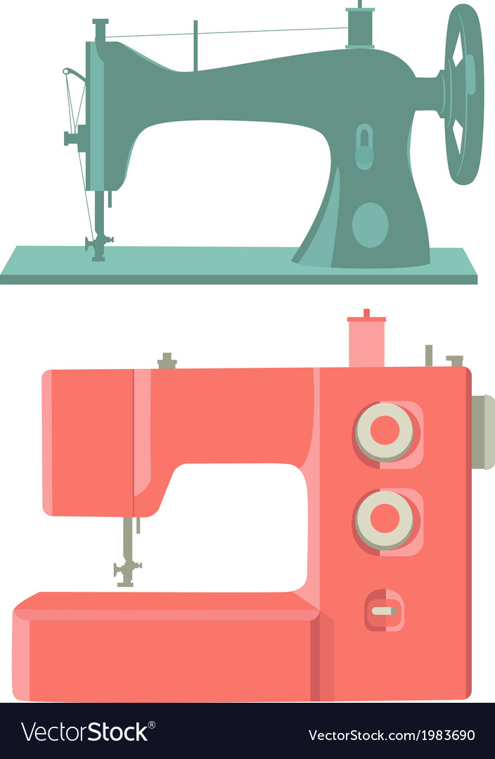 Sewing Machines Royalty Free Vector Image VectorStock Unique Free Sewing Machines