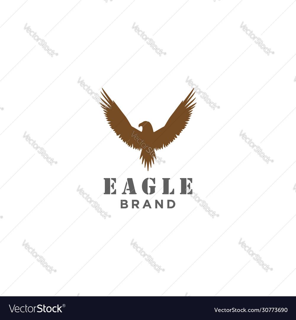 Silhouette eagle phoenix hawk symbol stock