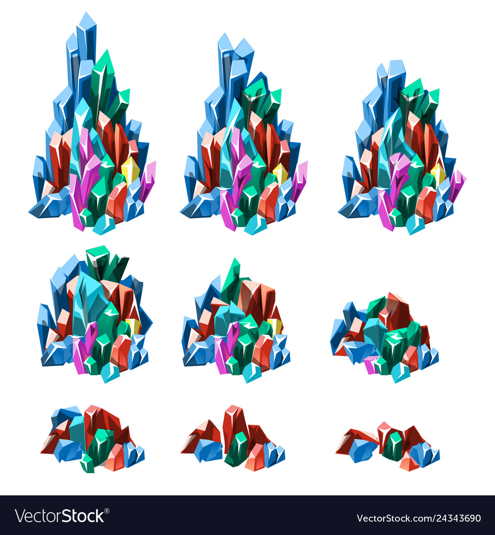 The stage of formation of multicolored crystalline