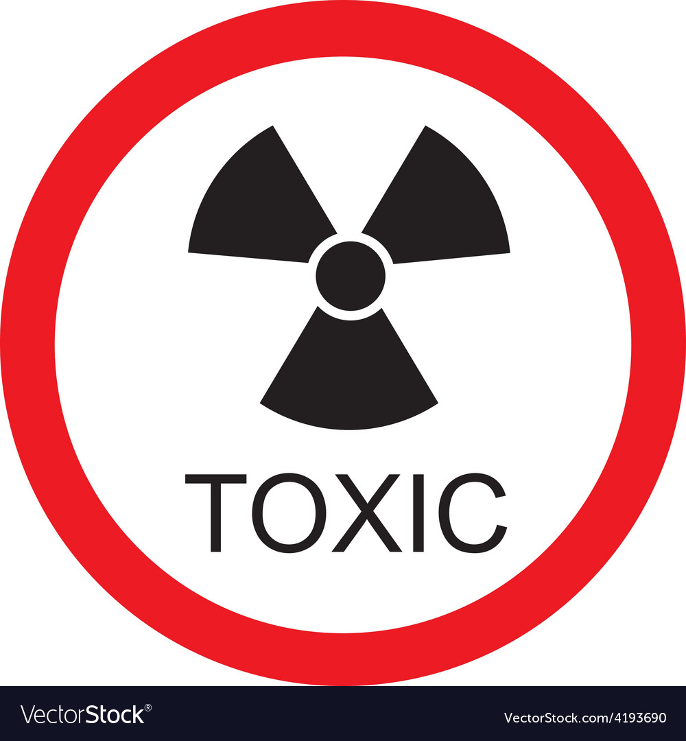 toxic sign royalty free vector image vectorstock