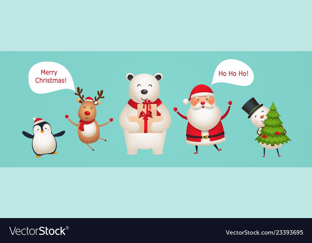 Cute fun new year characters
