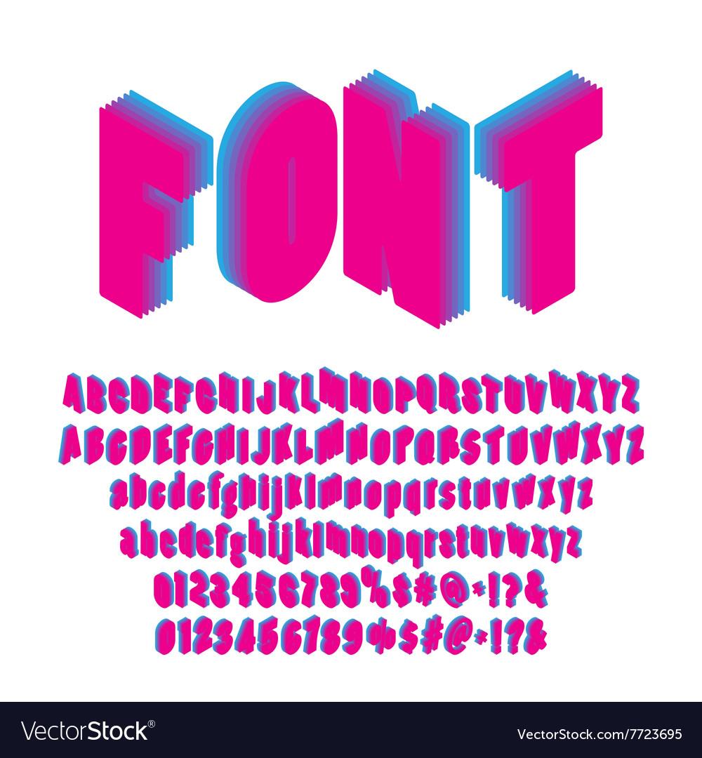 Isometric font set