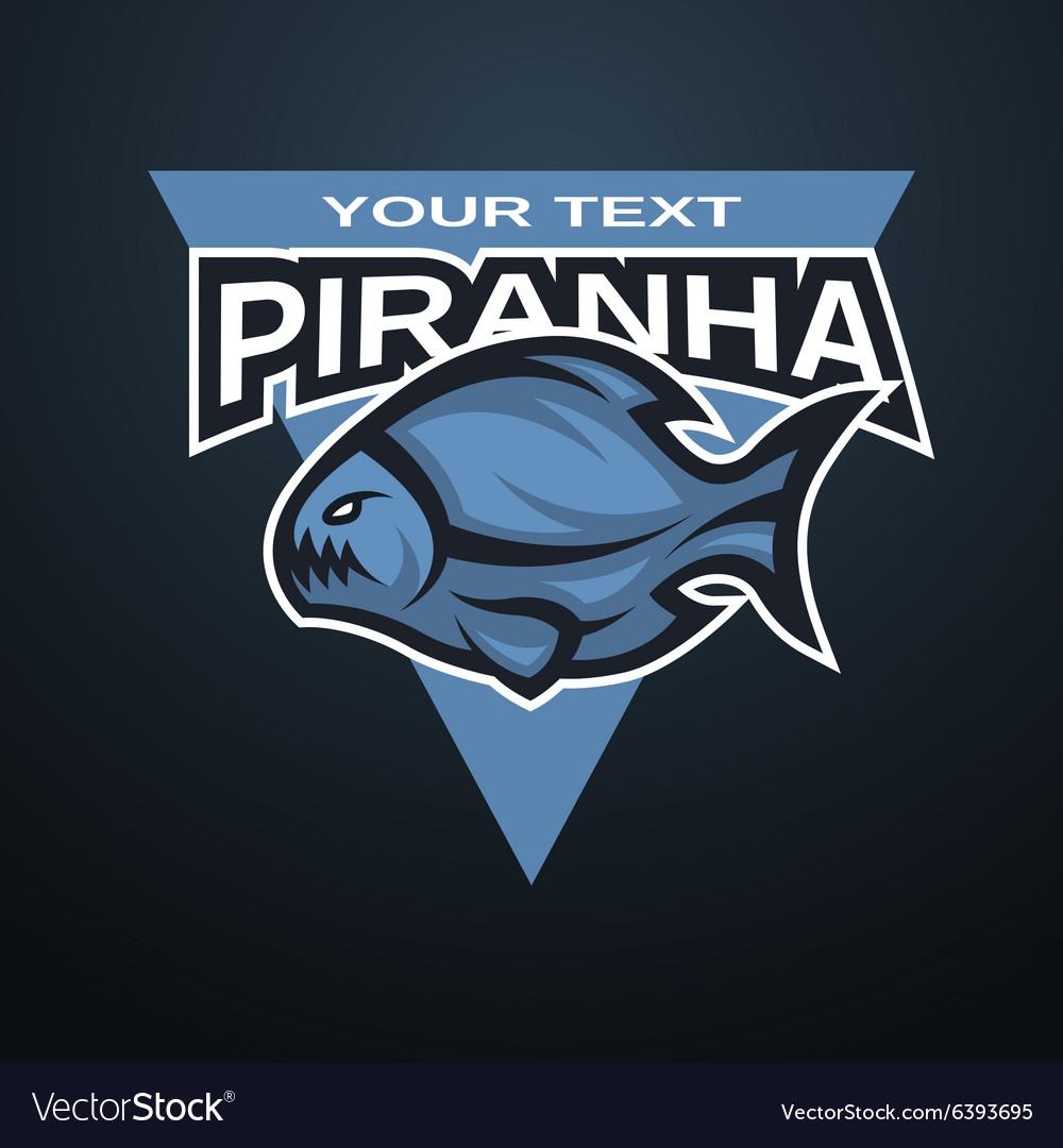 Piranha emblem logo for a sports team vector image