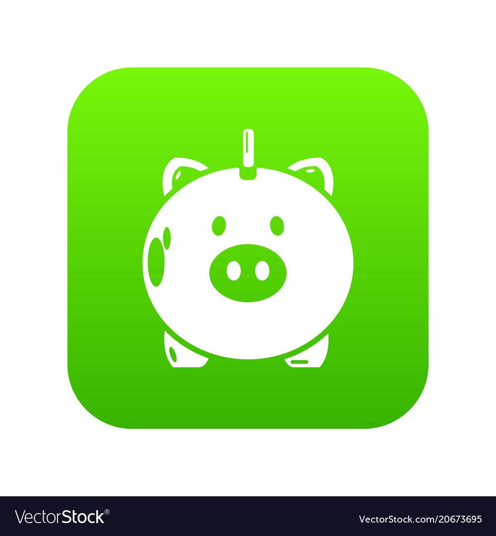 Safe Money Icon Green Vector Image