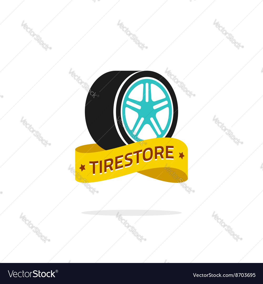 Tire store logo template isolated on white