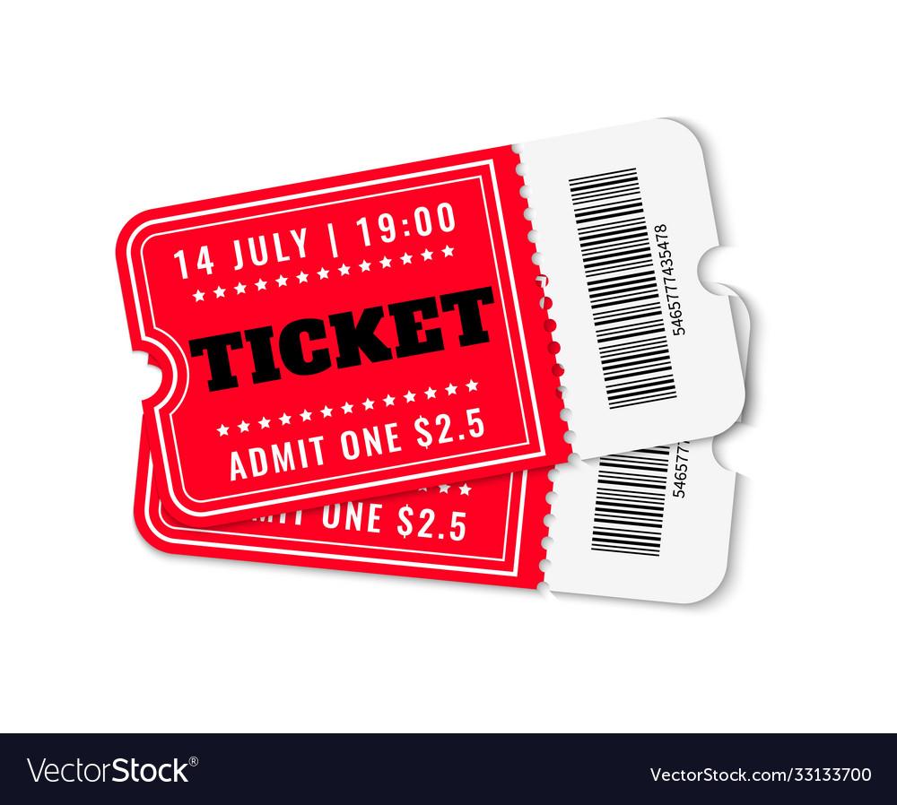 Cinema tickets concert movie theater ticket