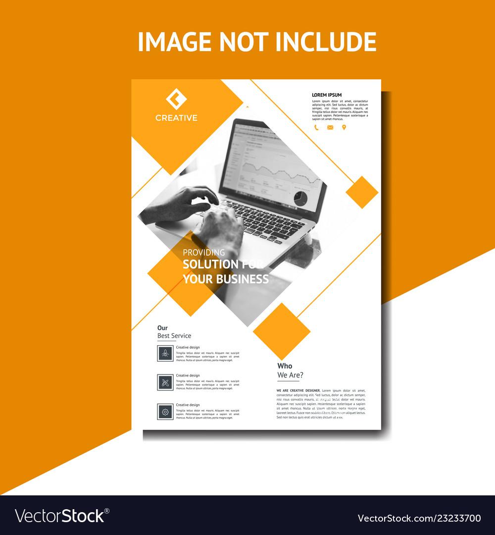 Creative orange corporate flyer template